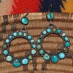 Vintage Navajo Hoop Earrings, would die for these.