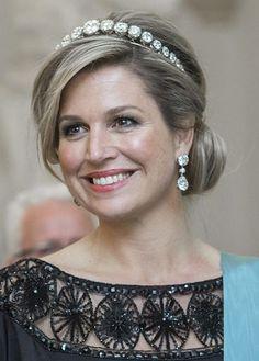 Queen Maxima wearing the Diamond Bandeau tiara