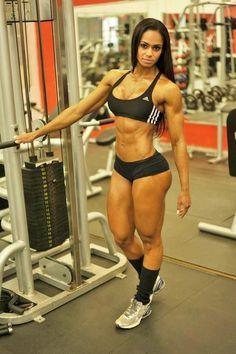 Women weight training brings beautiful results.