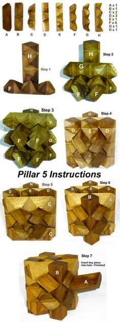 pillar 5 brain teaser puzzle solution http://www.craftypuzzles.com/solutions.htm