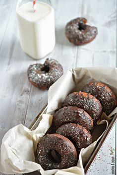 Chocolate Donuts with a Chocolate-Peppermint Glaze