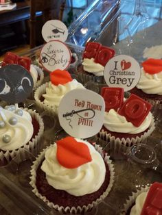50 shades of grey cupcakes