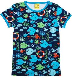 c98e892a3d3 DUNS Organic Cotton Under the Sea Short Sleeve Top Toddler Gifts