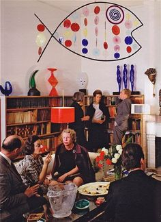 Cocktail party at Peggy Guggenheim's, Venice, early 1960s. Fuck Don Draper, I wanna hang with Peggy and her Crew....