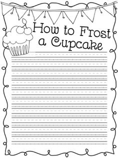 Classroom Freebies: How To Frost a Cupcake Writing idea, cupcakes, cupcak write, frost, procedur write, ginger snap, ela, cupcake classroom, classroom freebi