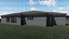 This Tuscan designed Single Storey 3 Bedroom House Plan Boasting Full Master Suite Including Walk-In Closet, 2 Standard Bedrooms, Bathroom, Open Plan living area Including Kitchen with Scullery, Double Garage and Covered Patio My Building, Building Plans, Bedroom House Plans, South Africa, Floor Plans, How To Plan, Outdoor Decor, Home Decor, Decoration Home
