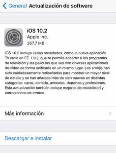 👉🏻 Nueva actualización iOS 10.2