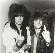 Nikki Sixx and Jon Bon Jovi.- the big hair days. Hair Metal Bands, 80s Hair Bands, 80s Rock Bands, Cool Bands, Jon Bon Jovi, Bon Jovi 80s, Motley Crue Nikki Sixx, Tommy Lee, Heavy Metal Music
