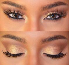 Natural golden makeup