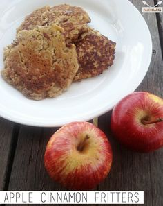 These delicious apple cinnamon fritters are a great Paleo breakfast or snack.    Instructions   Place the grated apples, eggs, coconut milk, almond flou