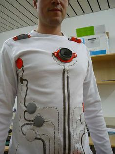 Wearable Toy Piano : 11 Steps (with Pictures) - Instructables E Textiles, Diy Tech, Smart Outfit, Cyberpunk Fashion, How To Make Buttons, Wearable Technology, Fabric Strips, Arduino, Printed Shirts