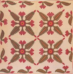 Applique Quilt, 1860. Made by Catherine Johnson Cover. Fayette Co, Pennsylvania.