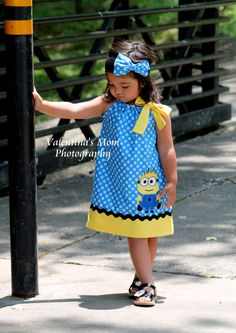 >>>Cheap Sale OFF! >>>Visit>> Super Adorable Despicable me Minion inspired pillowcase dress Victoria Brandon Minions, My Minion, Minion Theme, Minion Birthday, My Little Girl, Little Girl Dresses, Girls Dresses, Despicable Me Party, Minion Party
