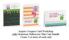Jeepers Creepers Card Workshop