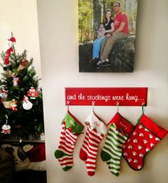Create your very own stocking hanger for Christmas. Don't have a mantle? No problem! Make it any size you need. Simple steps can be found by clicking the photo.