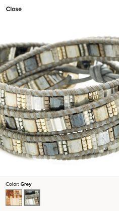 more futuristic/ tech looking bracelet, while still inspirational grey tones Chan Luu bracelet