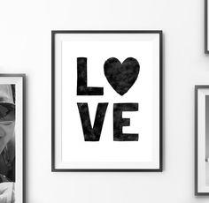 "Digital Print Art ""Love"" Typography Printable Poster Home Decor Inspiration Love Print Love Quotes Digital Print *INSTANT DOWNLOAD*"