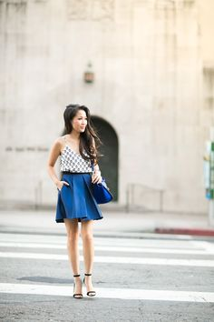 Dress worn as a top :: Pim + Larkin Skirt :: Tibi (old, current season here) Bag :: Celine Shoes :: Miu Miu