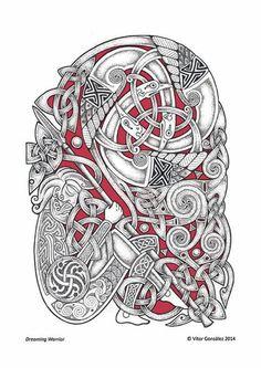 Art Of The North. Celtic, Saxon and Viking Tribal Designs — Verkami Heidnisches Tattoo, Pagan Tattoo, Celtic Knot Tattoo, Rune Tattoo, Norse Tattoo, Celtic Tattoos, Viking Tattoos, Wiccan Tattoos, Inca Tattoo