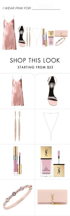"""""""Diva"""" by annettymo ❤ liked on Polyvore featuring Fleur du Mal, Yves Saint Laurent, EF Collection, Diane Kordas, Givenchy and IWearPinkFor"""