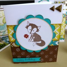 This card features the new CTMH February 2014 Stamp of the Month 'Wild About Love' and new Paper Packet 'Skylark'. Created by Denise Tarlinton https://www.facebook.com/ScrapStampShare