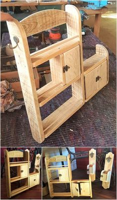 Catch out the dazzling sparkle of the reshaped wood pallet Kitchen Shelving thought appeared as foll Wooden Pallet Projects, Woodworking Projects Diy, Diy Projects, Pallet Ideas, Recycled Pallets, Wooden Pallets, Pallet Wood, Wood Wood, Plastic Pallets