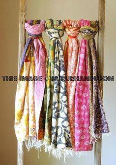 kantha sari scarf wholesale 10 pc