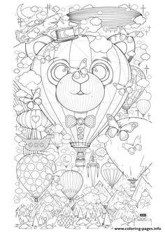Print zen anti stress adult hot air balloon zen anti stress to print  coloring pages