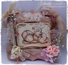 baby Tilda Magnolia shabby vintage Scrapbooking, Magnolias, Shabby Vintage, Baby, Cards, Magnolia Trees, Baby Humor, Scrapbooks, Infant