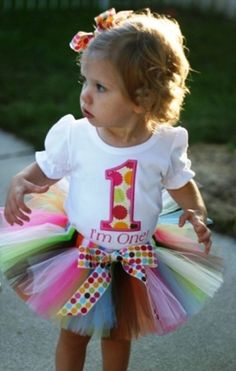 PERSONALIZED Multi Dots Birthday Number Tutu by AddieKatBoutique, $54.50
