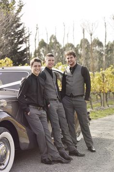 Yup. Black and grey. Casual. But I want dylan in all back. Soo Groomsmen? Sure.