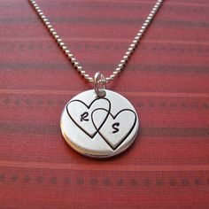 connected hearts necklace by juliethefish on Etsy