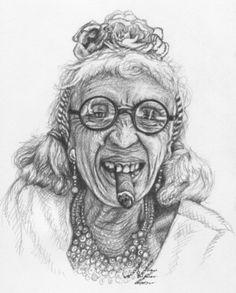 "Saatchi Online Artist Nicole Zeug; Drawing, ""Cuban Lady"" #art"