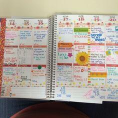 Wendy Augustine Last weeks layout #erincondren #erincondren14 #eclifeplanner14 #erincondrenlifeplanner
