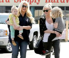 Jessica Simpson and her daughter Maxwell step out to Don Cuco where they had lunch with sister Ashlee Simpson, her son Bronx and the little ones' grandma, Tina Simpson on March 16, 2013.