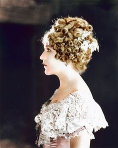 Mary Pickford. (Colorized Photo) 1920.