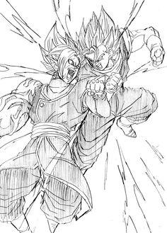 Dragon Ball Vegeta And Goku Transforms Into A Super Saiyan