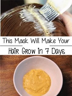 Ingredients: – 1 banana – 1 egg – 1 tablespoon of honey – cup of black beer Procedure: – put all the ingredients in a blender and mix them – apply the mixture on your hair, cover your hair with a (Hair Growth In A Week) Beauty Care, Diy Beauty, Beauty Hacks, Blush Beauty, Natural Hair Care, Natural Hair Styles, Natural Beauty, Organic Beauty, Natural Oils
