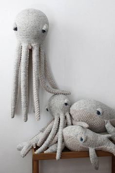 Handmade Big Original Octopus Plush : A big octopus to cuddle for big and small. Are there at Etsy. Handmade Shop, Handmade Toys, Etsy Handmade, Sticker Printable, Free Printable, Octopus Plush, Octopus Stuffed Animal, Stuffed Animal Diy, Octopus Octopus
