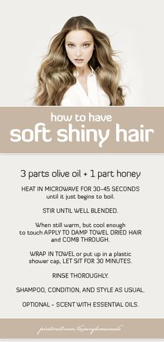 How to have soft shiny hair