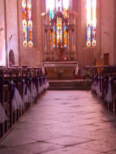 Une décoration toute simple pour l'église.