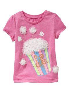 Tulle embellished graphic T // tactile Summer Girls, Kids Girls, Toddler Girl Outfits, Kids Outfits, Shirt Print Design, Shirt Designs, Girls Sleepwear, Girls Tees, Kids Prints