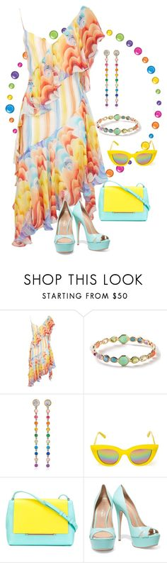 """""""My Fashion today"""" by sabine-713 ❤ liked on Polyvore featuring Temperley London, Ippolita, SheBee Gem, Quay, Delpozo and Casadei"""