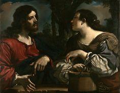 Giovanni Francesco Barbieri Guercino Christ and the Woman of Samaria
