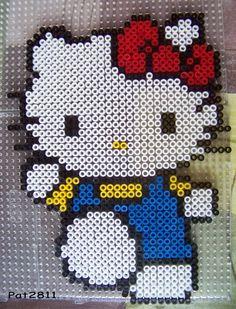 Hello Kitty Bügelperlen hama perler beads