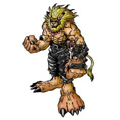 "Leomon - ""King of Beasts/Noble Hero"", Champion level Beast Man Digimon"