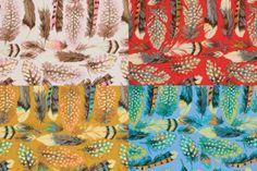 Martha Negley Farmington Feathers 4 Colors by PiccoliPlayhouse, $10.00