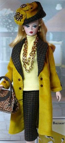 Harpers Bazaar Barbie:  HAT & Purse --  #Barbie Hats  #Barbie Shoes/Purses/Belts  #Barbie Fashion