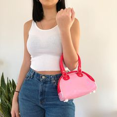 Cute Purses, Purses And Bags, Orange Beanie, Pink Bags, Leather Blazer, Girl Things, Mini Purse, Cute Bags, Vintage Handbags