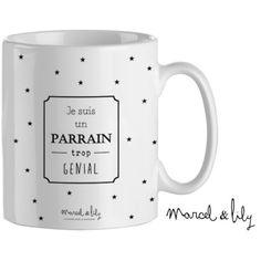 """Mug personnalisable """"Je suis un Parrain trop génial""""                                                                                                                                                                                 Plus"""